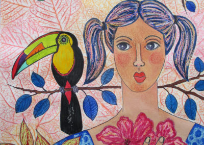 Colette with Toucan